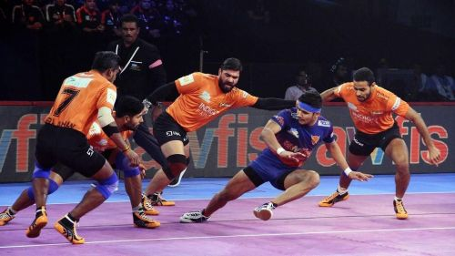 Naveen Kumar was the top raider for the Dabang Delhi KC side