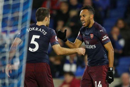 Aubameyang gave Arsenal the lead