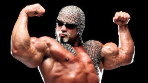 Scott Steiner, AKA Big Poppa Pump, is a former world champion who lacks public speaking skills.