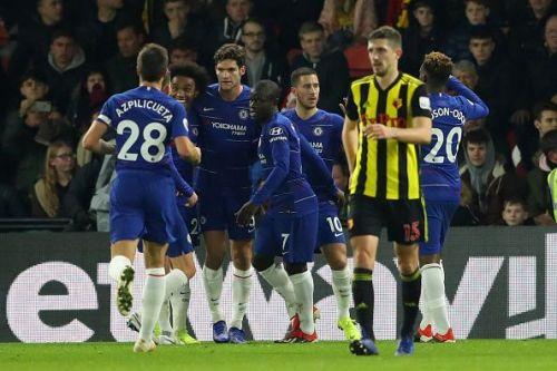 Chelsea moved up in the table following their win against Watford