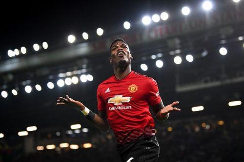 Pogba celebrates after scoring a goal