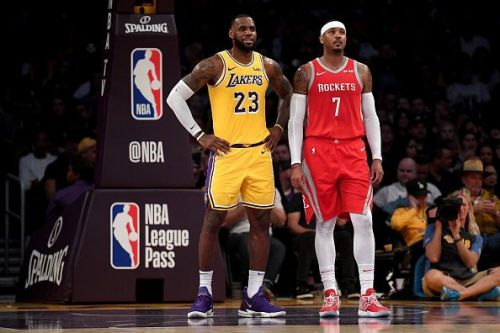 Anthony and James have faced off during Melo's brief spell with the Houston Rockets