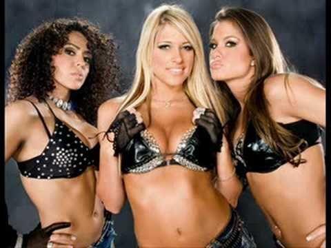 Layla, Kelly Kelly, and Brooke Adams, AKA Extreme Expose