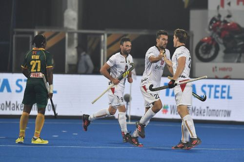 A flurry of first-half goals helped Belgium cruise to a comfortable triumph against South Africa