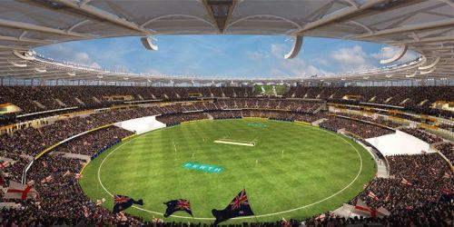 Perth's new Optus Stadium hosts India for the second Border-Gavaskar Test