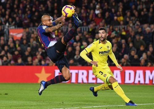 Vidal played tirelessly for the 70 minutes that he was on the pitch