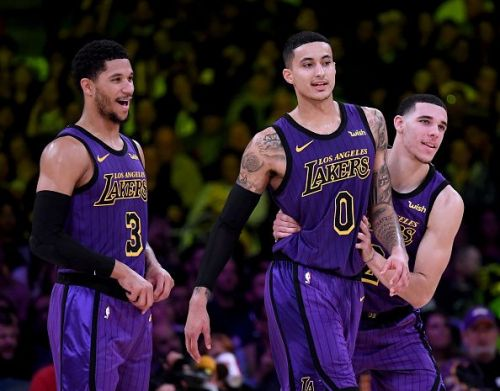 Kyle Kuzma had a great night for the Los Angeles Lakers