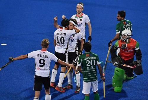 Marco Miltkau's field goal helped Germany register a narrow victory