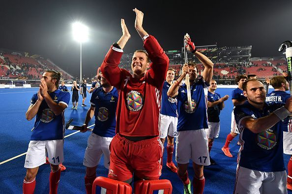 France eked out a narrow 1-0 win over debutants China in the second cross-over match to advance to the quarterfinals