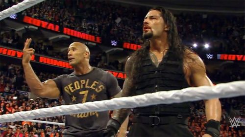 Image result for roman reigns and rock body
