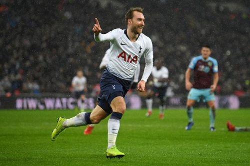 Christian Eriksen's late goal sealed the win for Tottenham