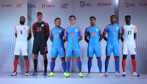 Players of the Indian National Football Team
