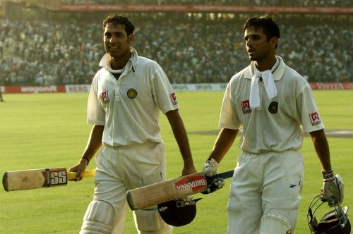 VVS Laxman (L) and Rahul Dravid