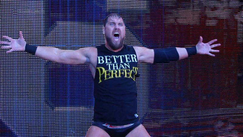 Curtis Axel before he was attacked by Erik Rowan at the 2015 Royal Rumble
