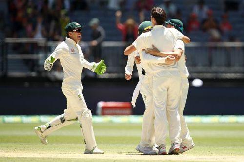 Australia won the second Test match at Perth