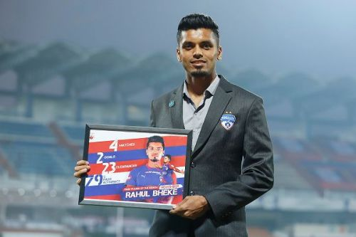 Bengaluru FC's Rahul Bheke, November's Fans' Player of the Month, is strangely missing from the squad