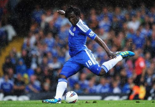 Romelu Lukaku in Chelsea colours