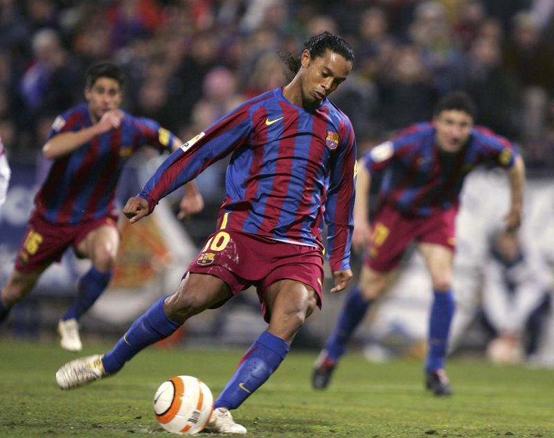 Ronaldinho failed to deliver from the spot kick