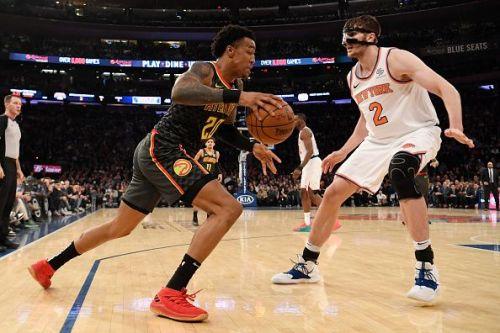 Action from Atlanta Hawks v New York Knicks