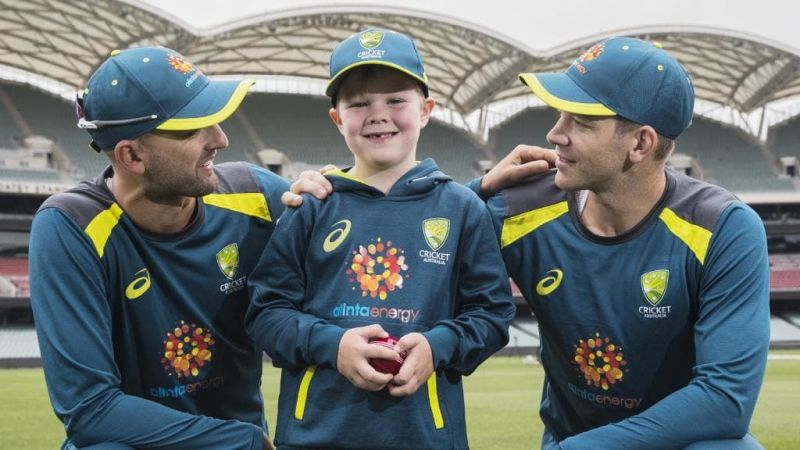 Archie with his Idol Lyon and Captain Paine