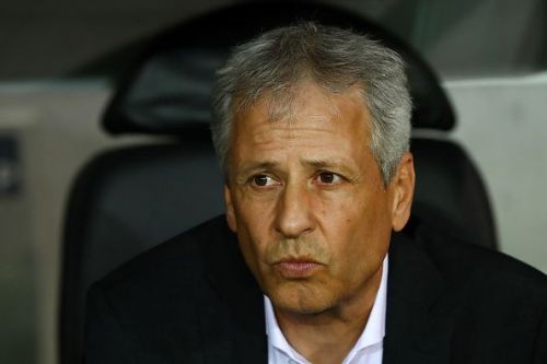 Lucien Favre looking on during a match