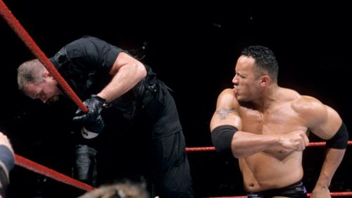 The Rock throwing punches at Bossman!