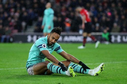 Aubameyang was denied on multiple occasions