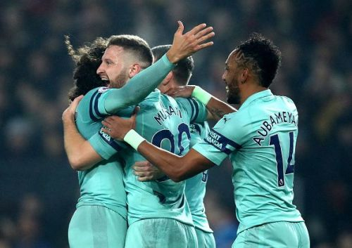 Mustafi scored after De Gea made an uncharacteristic error handling a simple shot and the goal line technology intervened to award Arsenal their first goal on the night