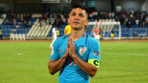 Sunil Chhetri has scored 65 goals for India