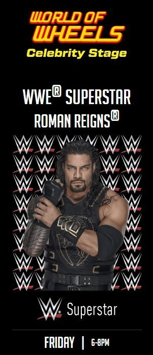 Reigns will appear at World of Wheels