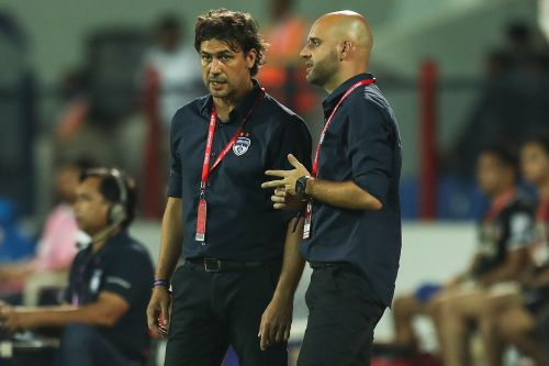 Carles Cuadrat with his assistant Gerard Zaragoza. (Photo Credits ISL)