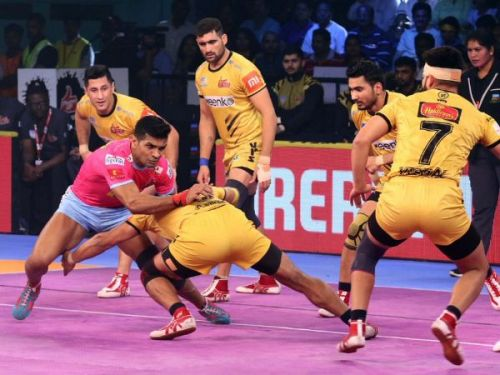 The Telugu Titans are currently playing their home leg