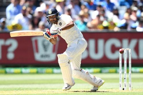 Mayank Agarwal scored a half-century on debut against Australia