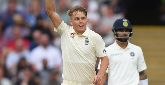 Sam Curran starred in the England-India series