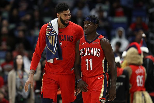Anthony Davis and Jrue Holiday