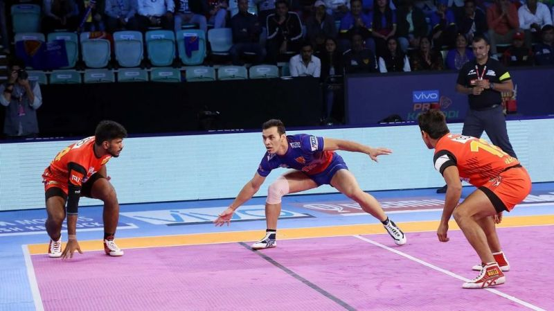 Meraj Sheykh was the top raider for the Dabang Delhi side
