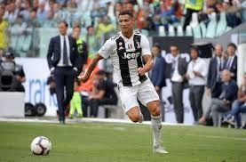 Ronaldo in Juventus colours