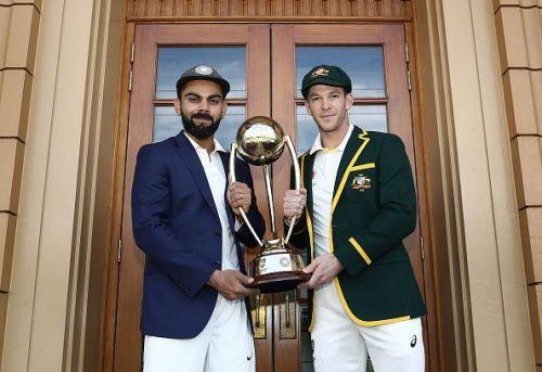 Virat Kohli and Tim Paine