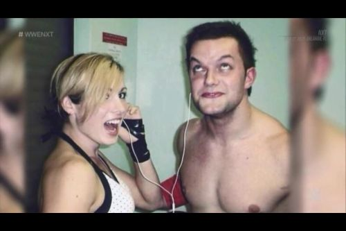 Becky and Finn in the good old days before joining WWE