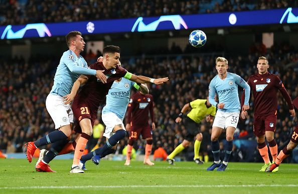 Laporte conceded a needless penalty after tugging on to captain Hubner