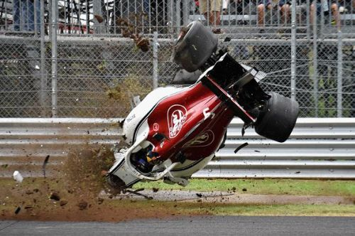 Sauber's Marcus Ericsson was involved in a high-speed crash at Monza