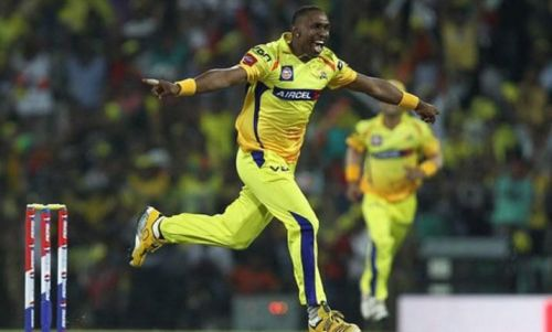Bravo is successful with both bat and ball