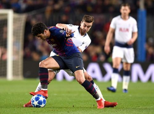Alena has made six senior appearances this term, including this one during their 1-1 draw with Tottenham