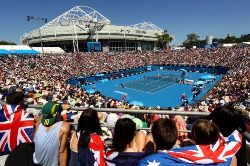 Margaret Court Arena in 2012 - before the retractable roof was constructed
