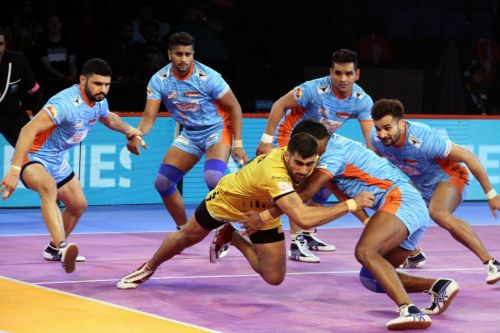 Bengal Warriors and Telugu Titans have played the most tied matches