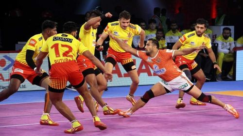Sandeep Narwal did well in the last match against Gujarat.