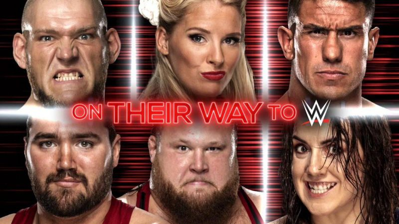 The six superstars pictured above will be joining the main roster next month