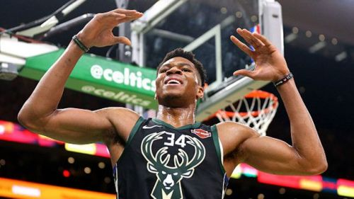 Giannis' rebounding average of 12.8 is currently 5th in the league this season.