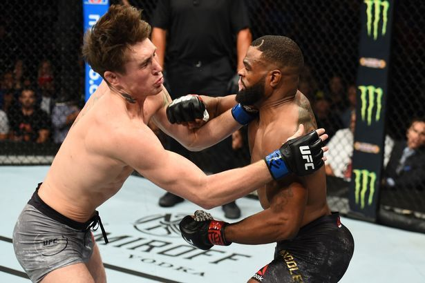 Tyron Woodley picked up his first UFC submission over Darren Till