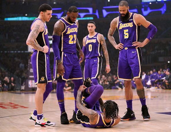 competitive price 22db7 7e0cc Lakers Starting Lineup Tonight: Los Angeles Lakers ...